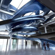 MAD to build huge blue spiral staircase in old Fenix warehouse in Rotterdam