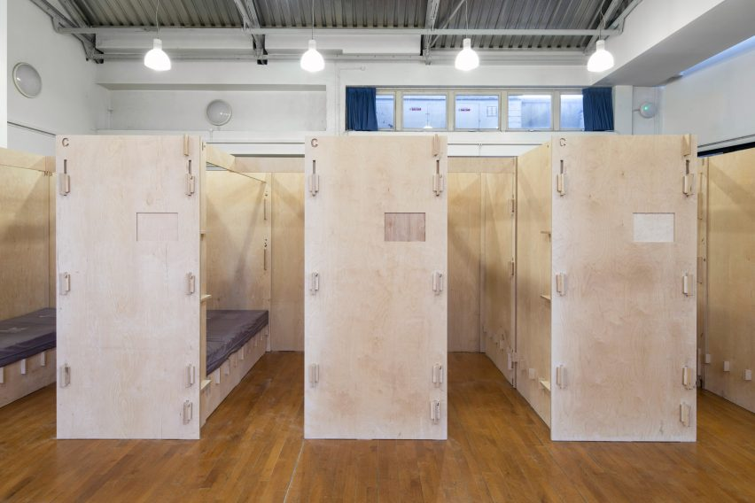 Commonweal Pods to provide beds for homeless people, London, by Reed Watts