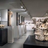 Interiors of Musée de la Romanité of Nîmes by Elizabeth de Portzamparc