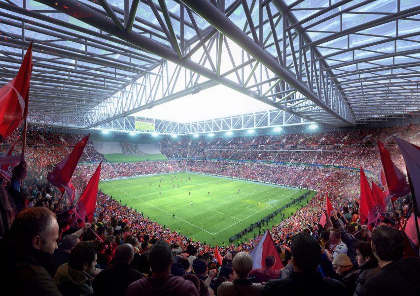 Feyenoord Stadium in Rotterdam by OMA