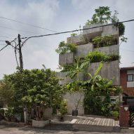 Planter Box House by Formzero is a concrete home covered in edible plants