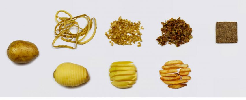 Rowan Minkley and Robert Nicoll repurpose potato peelings into wood substitute