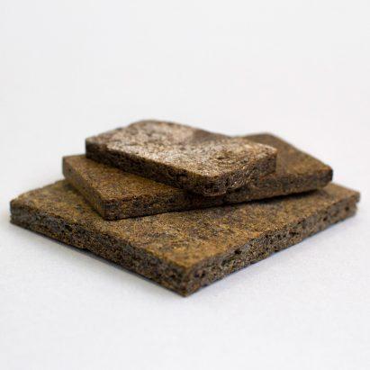 Rowan Minkley and Robert Nicoll repurpose potato peelings into wood substitute