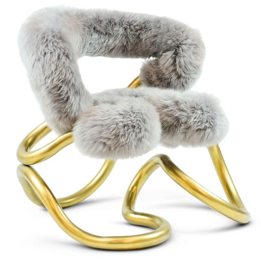 Railings faux-fur chair by Aranda\Lasch