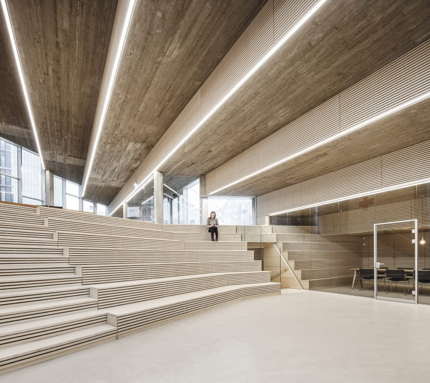 Auditorium in Red Cross Volunteer House in Copenhagen by COBE