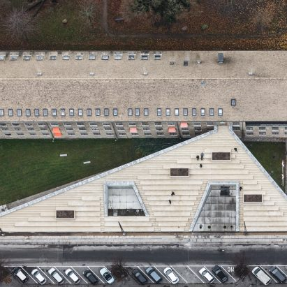 Birds eye view of Red Cross Volunteer House in Copenhagen by COBE
