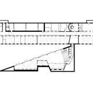 Lower floor plan of Red Cross Volunteer House by COBE
