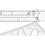 Roof plan of Red Cross Volunteer House by COBE