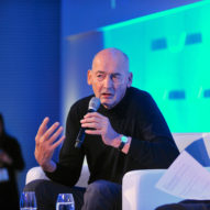 Rem Koolhaas speaking at the 2018 World Architecture Festival