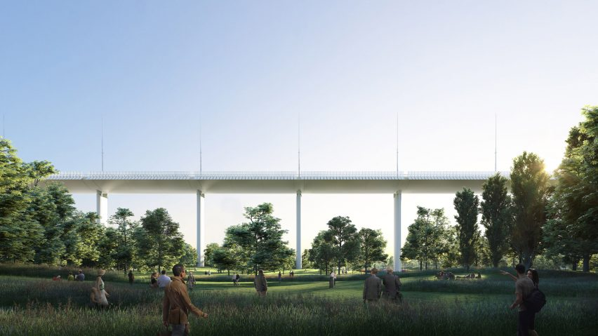 Renzo Piano's designs for a new bridge for Genoa