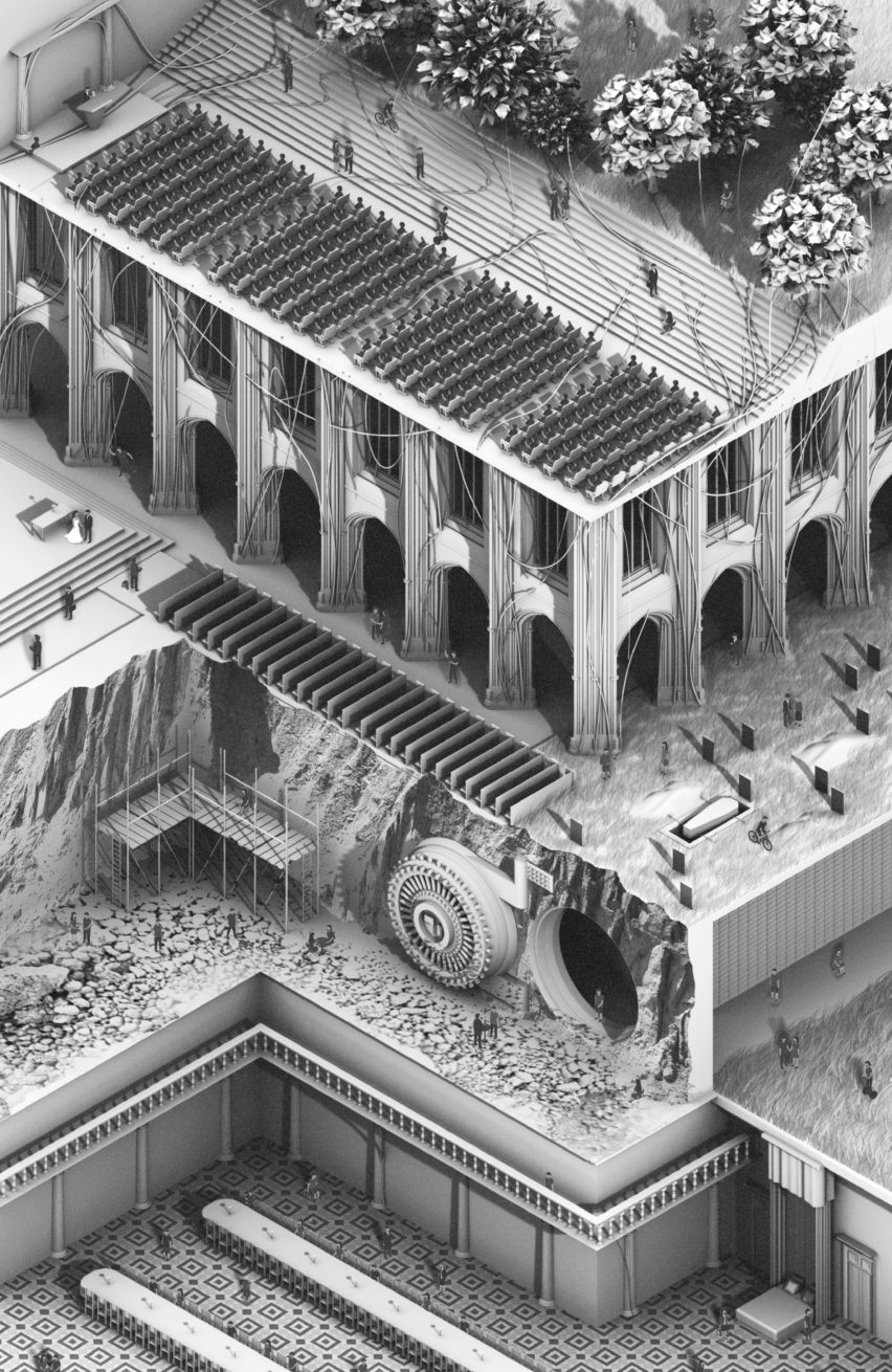 RIBA President's Medal student winners 2018: Justin Bean won the Bronze Medal with his project Dreaming of Electric Sheep