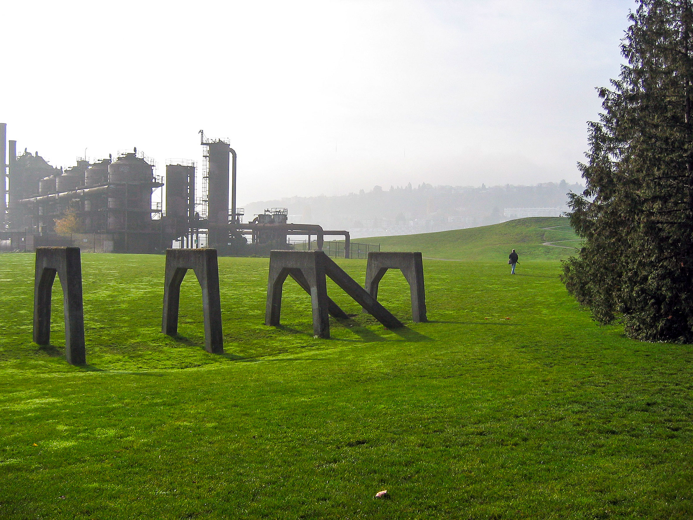 Richard Haag's Gasworks Park in Seattle