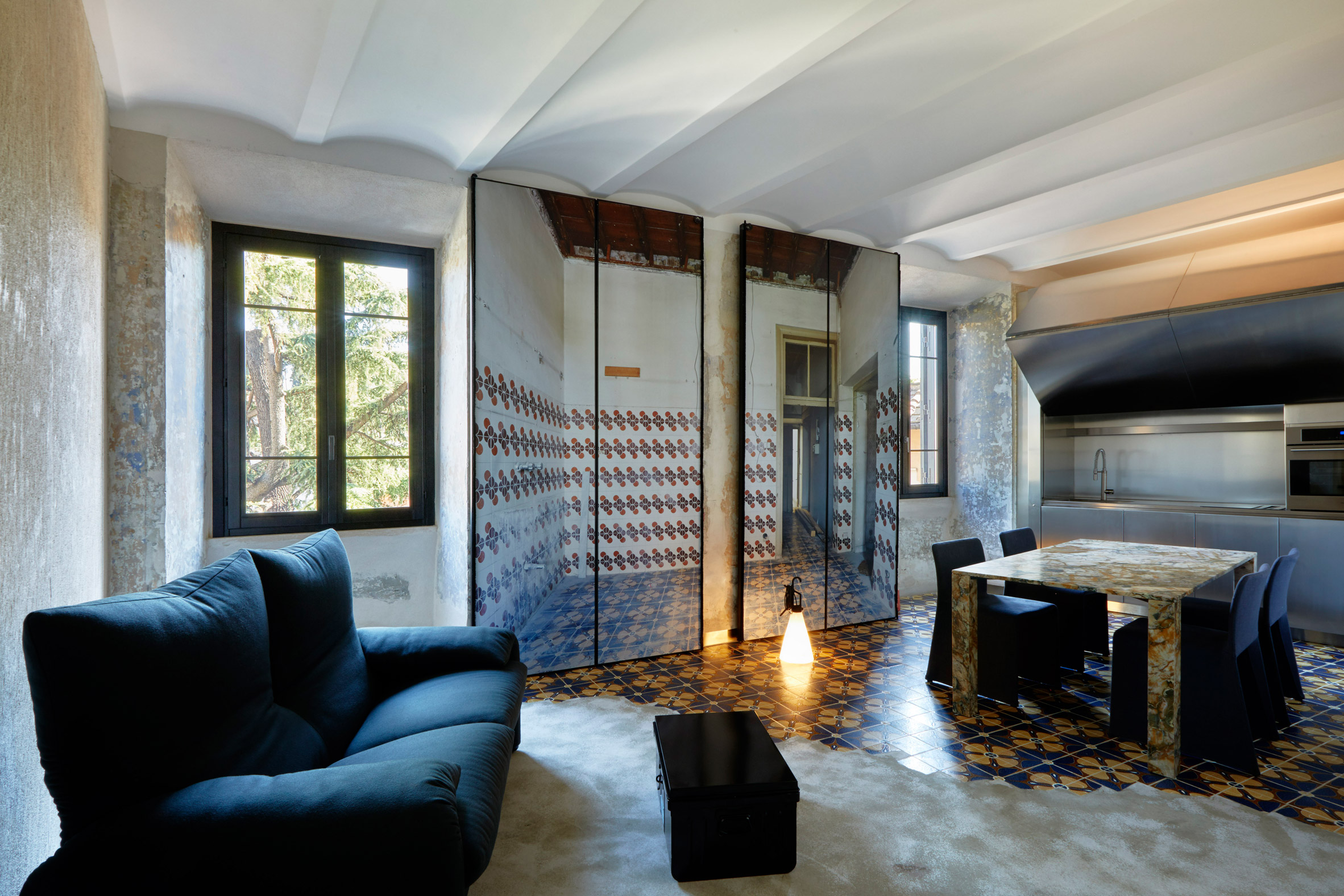 Rooms of Rome guest suites designed by Jean Nouvel