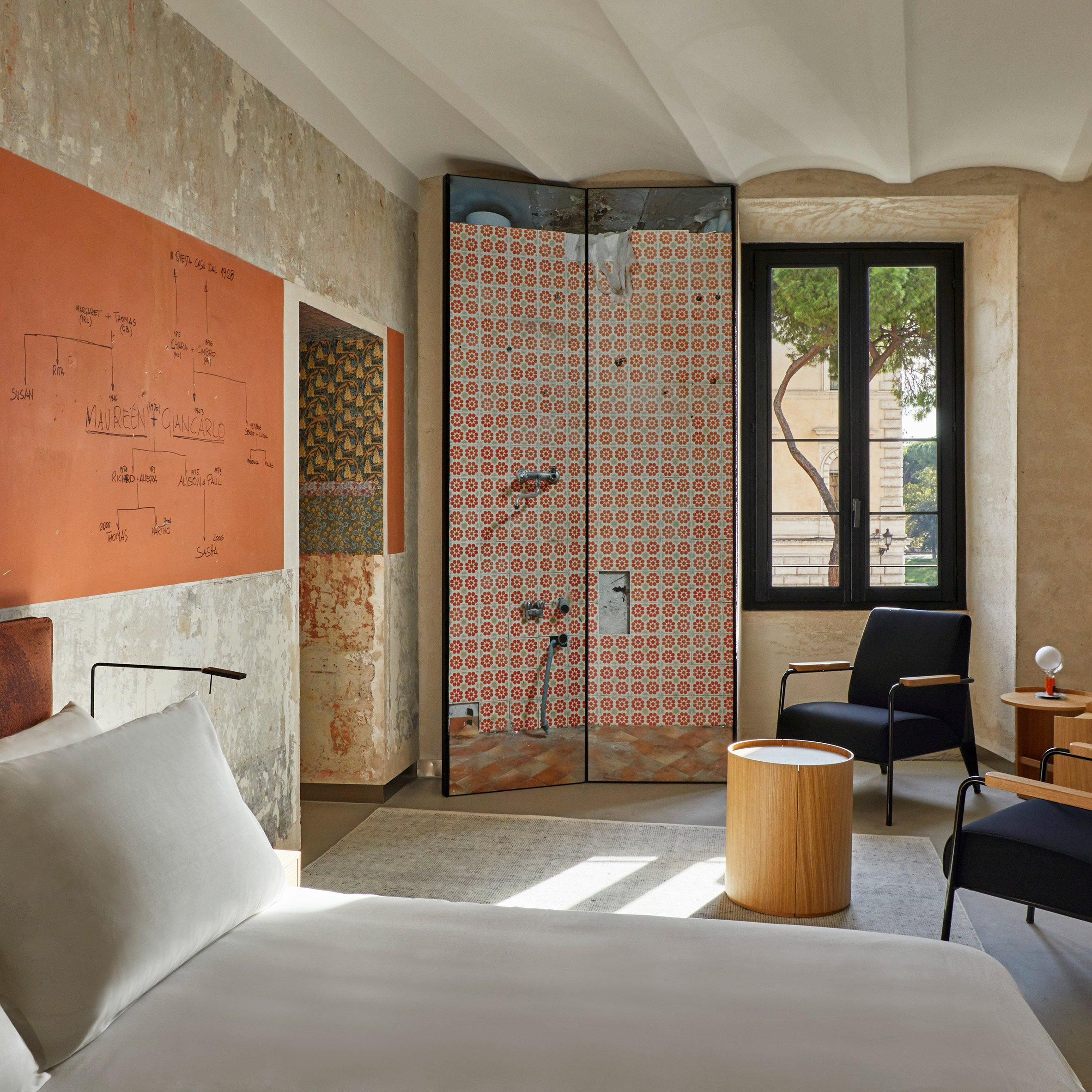 Hotels in Italy: Rooms of Rome guest suites designed by Jean Nouvel