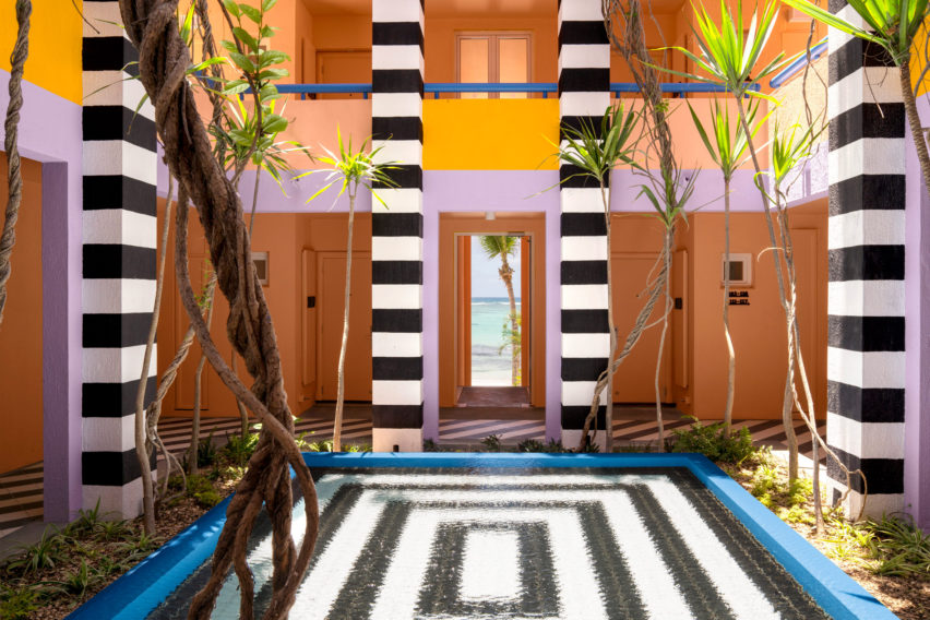 Time magazine's World's Greatest Places of 2019: Interiors of SALT of Palmar hotel, Mauritius, by Camille Walala