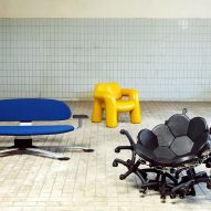 Schimmel and Schweikle distort generic office chairs to create outsized furniture