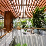 Family room in Stepping Park House by Vo Trong Nghia in Ho Chi Minh City, Vietnam