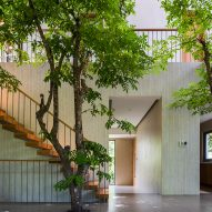 Interiors of Stepping Park House by Vo Trong Nghia in Ho Chi Minh City, Vietnam