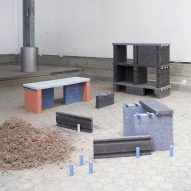 Tim Teven creates Recycling Reject furniture from paper-recycling waste
