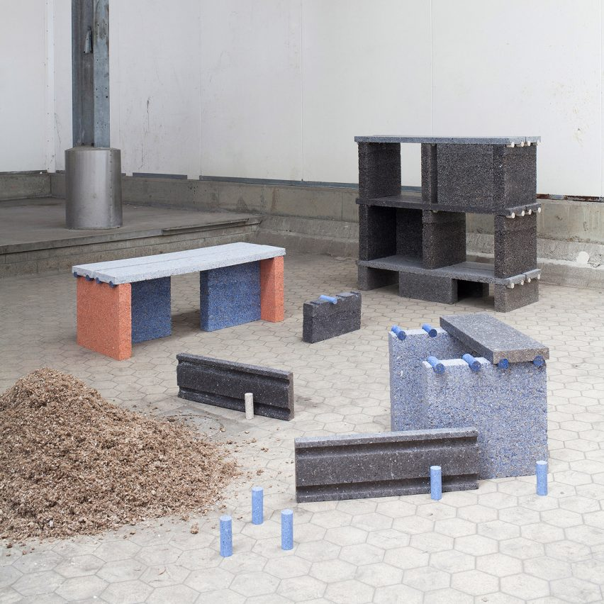 Tim Teven creates furniture from paper-recycling waste