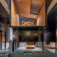 Interiors of Tingai Teahouse in Shanghai, China, designed by Linehouse