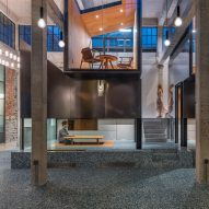 Linehouse adds elevated tearooms in a warehouse for Tingtai Teahouse in Shanghai