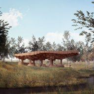 Diébédo Francis Kéré designs wooden pavilion for Tippet Rise Art Centre