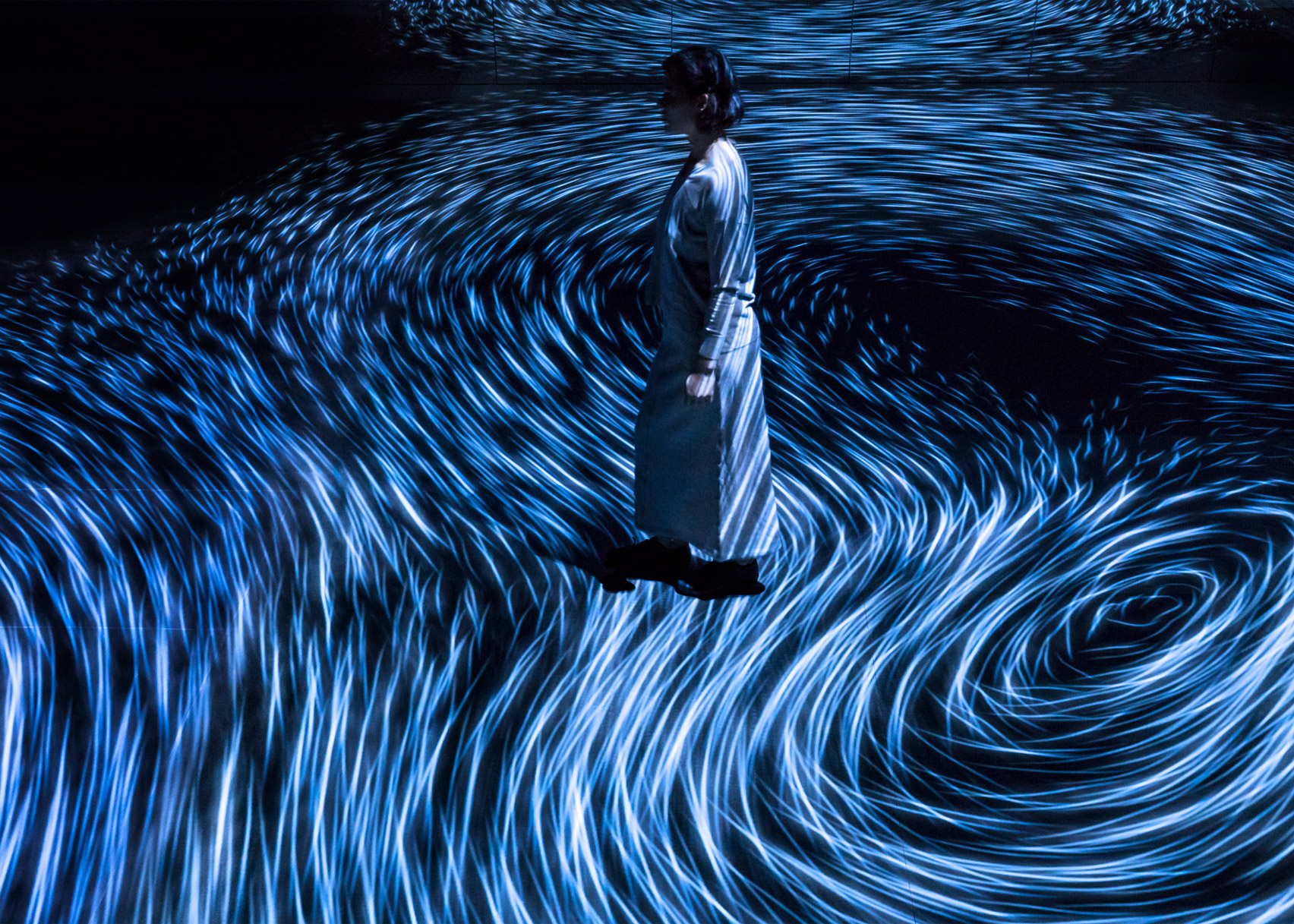 Moving Creates Vorticles Create Movement, Australia, by TeamLab