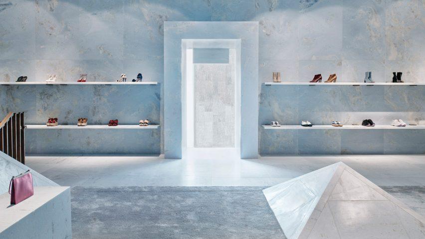 Dezeen's top shop interiors of 2018: Celine by Valerio Olgiati