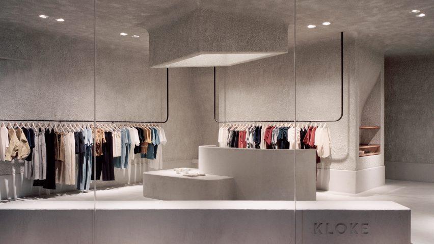 Dezeen's top shop interiors of 2018: Kloke by Studio Goss