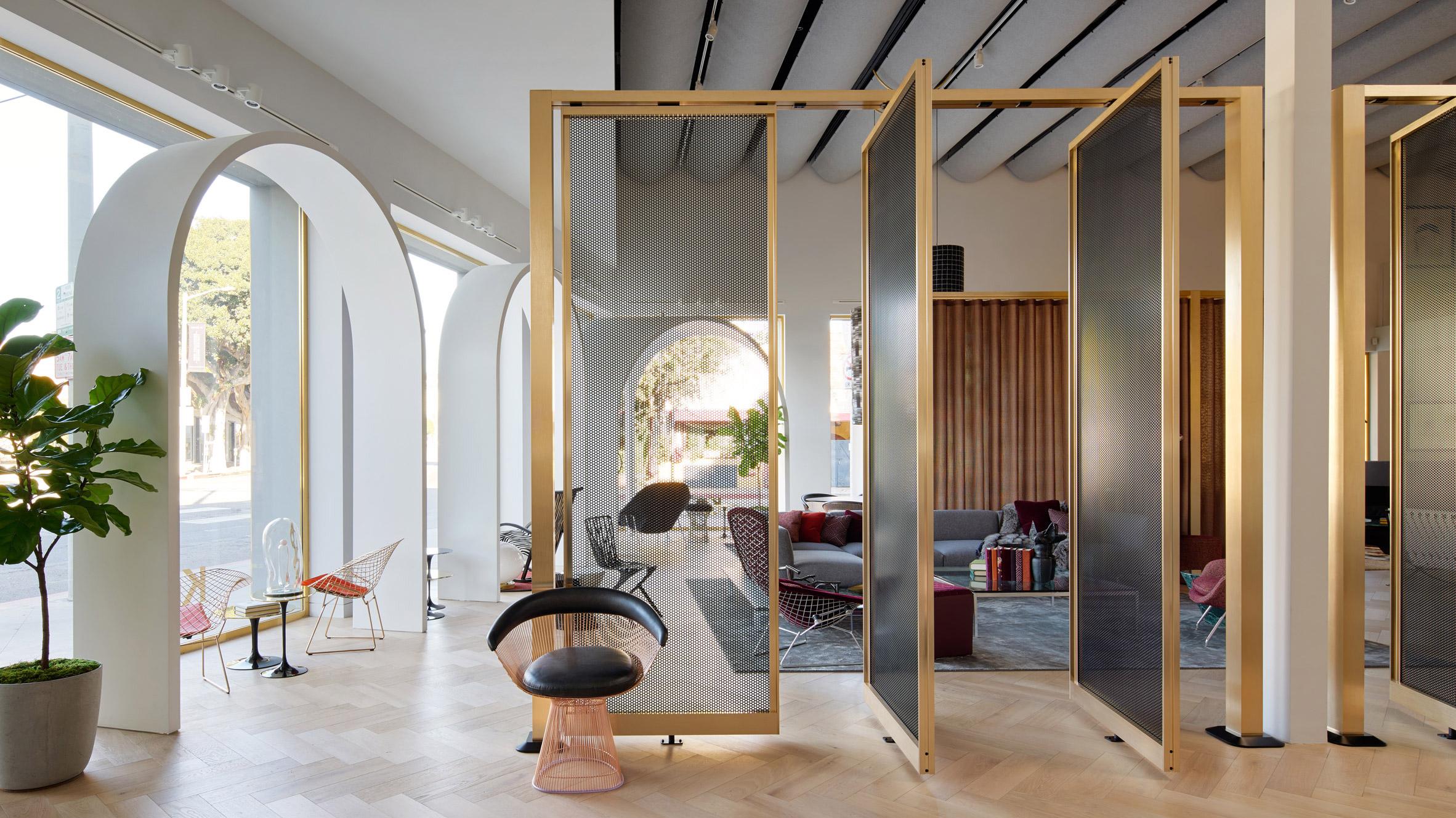 Dezeen's top shop interiors of 2018: Knoll LA by Johnston Marklee