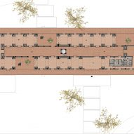 Ground floor plan of Tower of Bricks art centre in China by Interval Architects