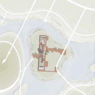 Site plan of Tower of Bricks art centre in China by Interval Architects