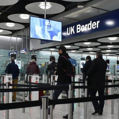 UK border control at Heathrow Airport