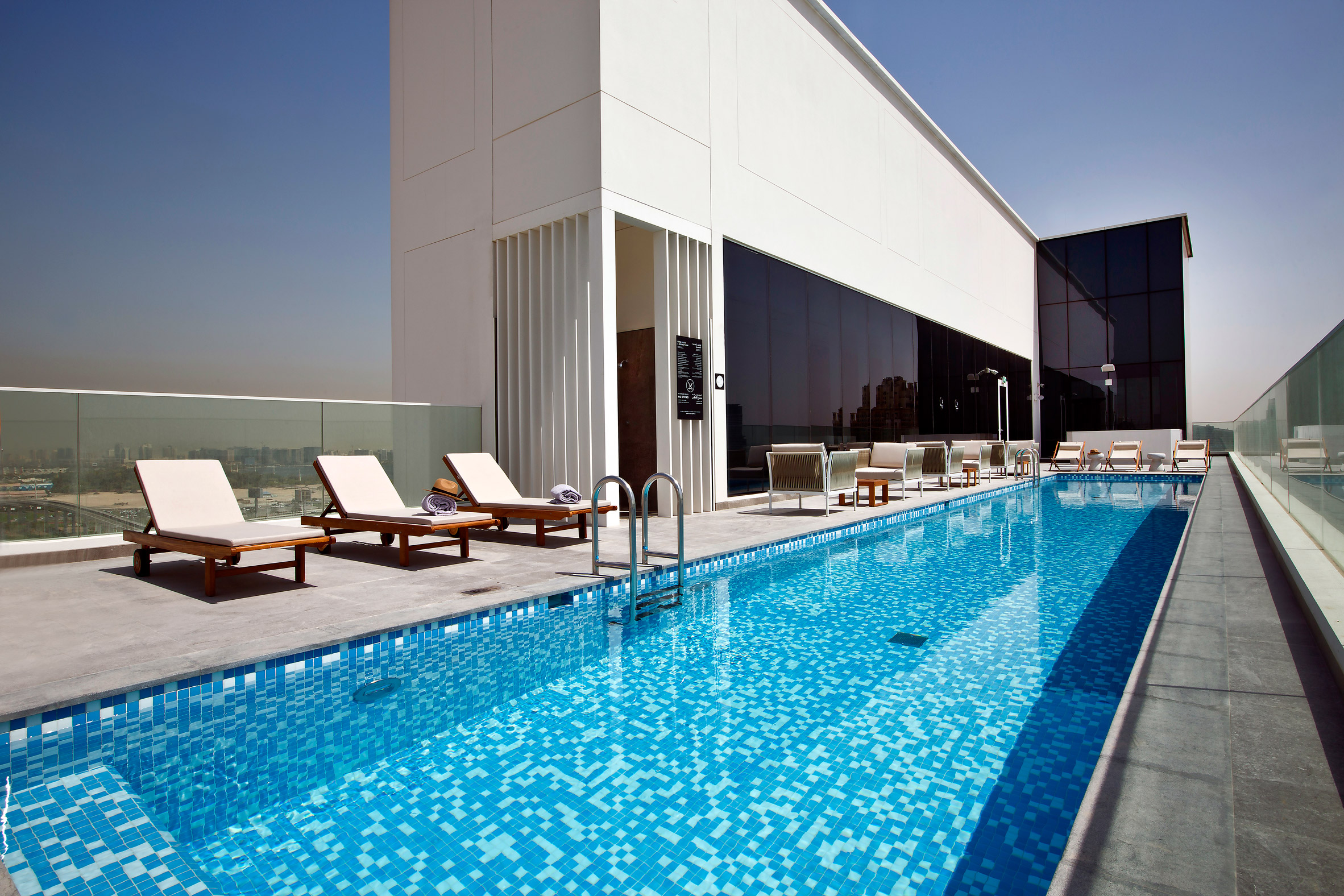 The rooftop swimming pool at Form Hotel Dubai, which won the Urban Hotel category and was named New Concept of the Year at the AHEAD MEA 2018 hospitality awards