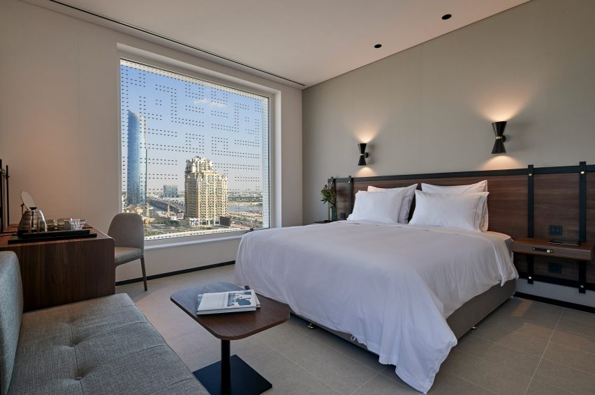 A guest room at Form Hotel Dubai, which won the Urban Hotel category and was named New Concept of the Year at the AHEAD MEA 2018 hospitality awards