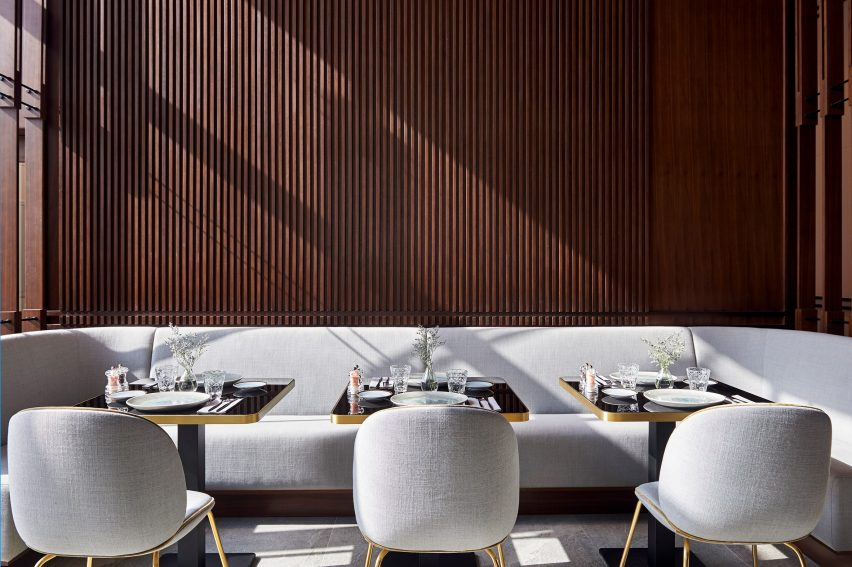 The restaurant at Form Hotel Dubai, which won the Urban Hotel category and was named New Concept of the Year at the AHEAD MEA 2018 hospitality awards