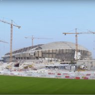 Video reveals Zaha Hadid's Qatar World Cup stadium nearing completion