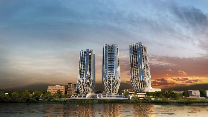 Zaha Hadid Architects' trio of Brisbane skyscrapers dropped