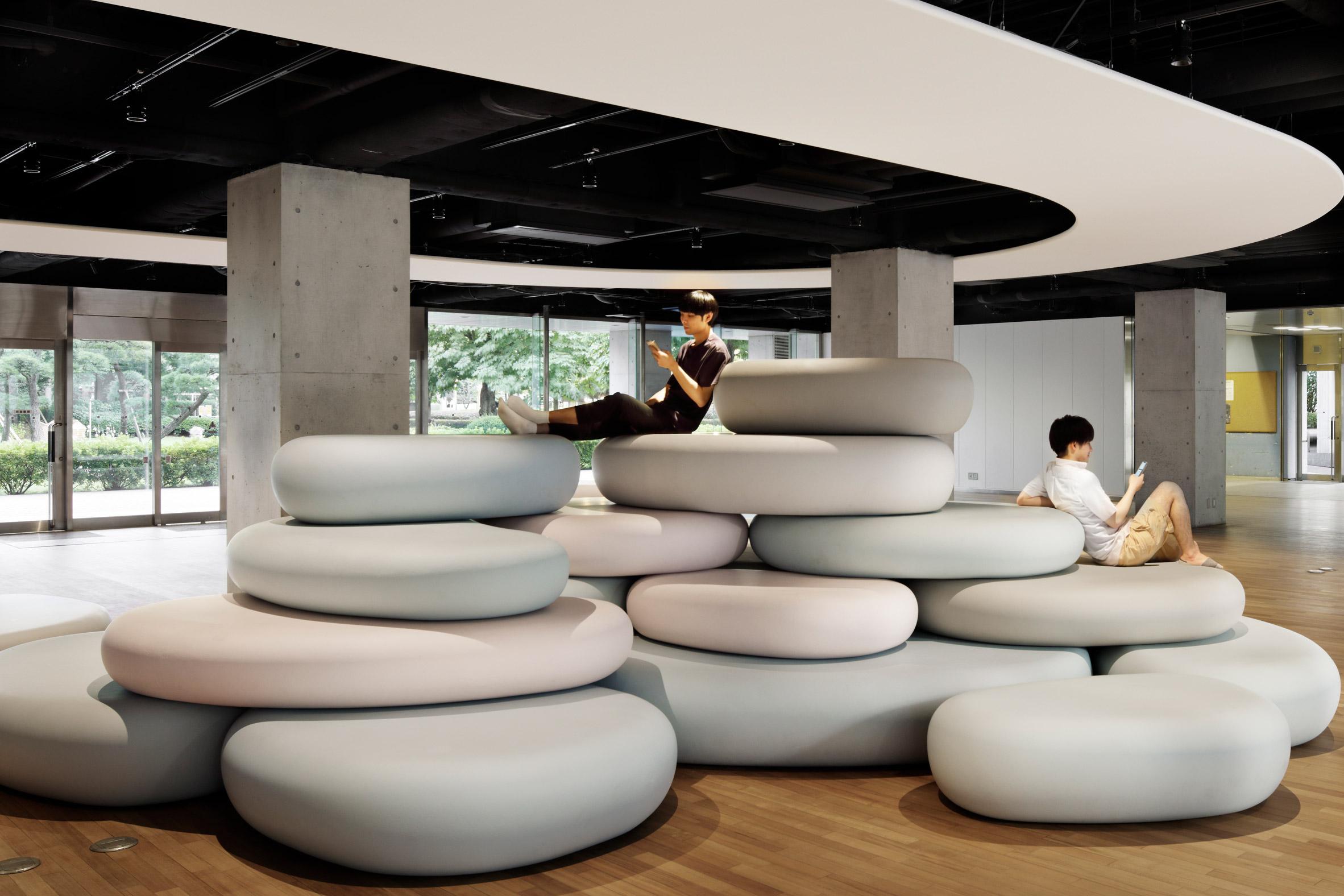 Zero Space student recreation area by Igarashi Design Studio