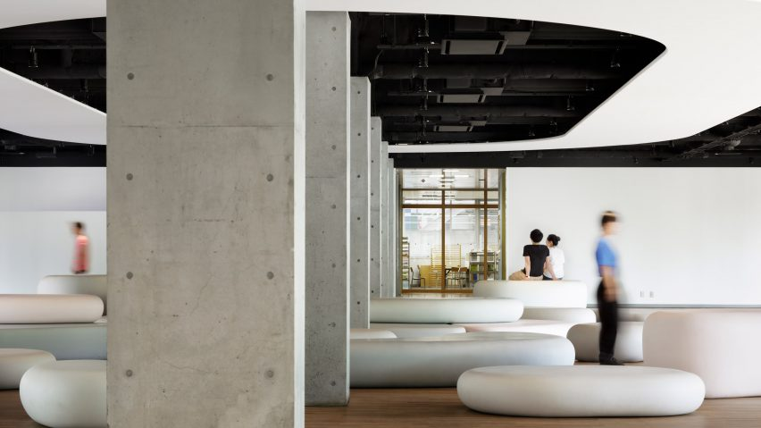 Zero Space student recreation area by Igarashi Design Studio