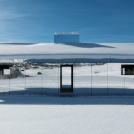 Doug Aitken's mirrored Mirage house installed in Swiss alps