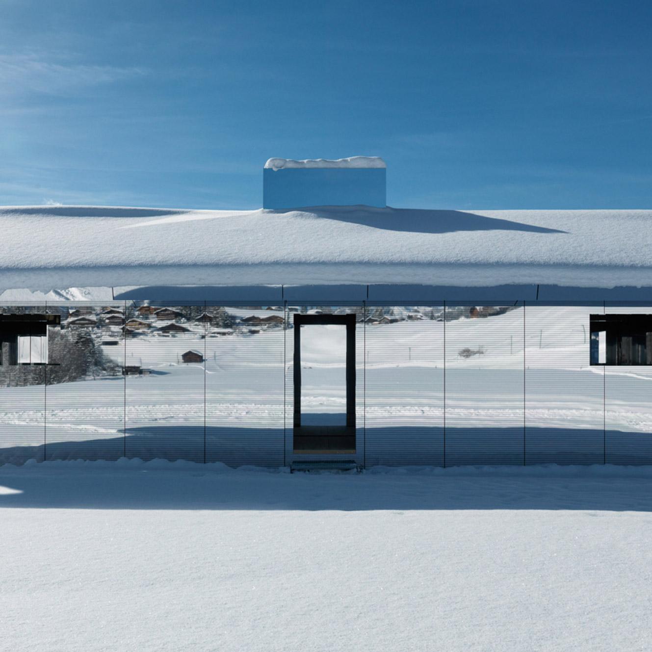 Dezeen's top 10 houses of 2019: Doug Aitken Gstaad mirrored house installation