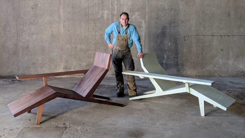Joep van Lieshout con su silla Liberty Lounger para Moooi