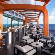 Kelly Hoppen-designed cruise ship features a moving cantilevered exterior deck