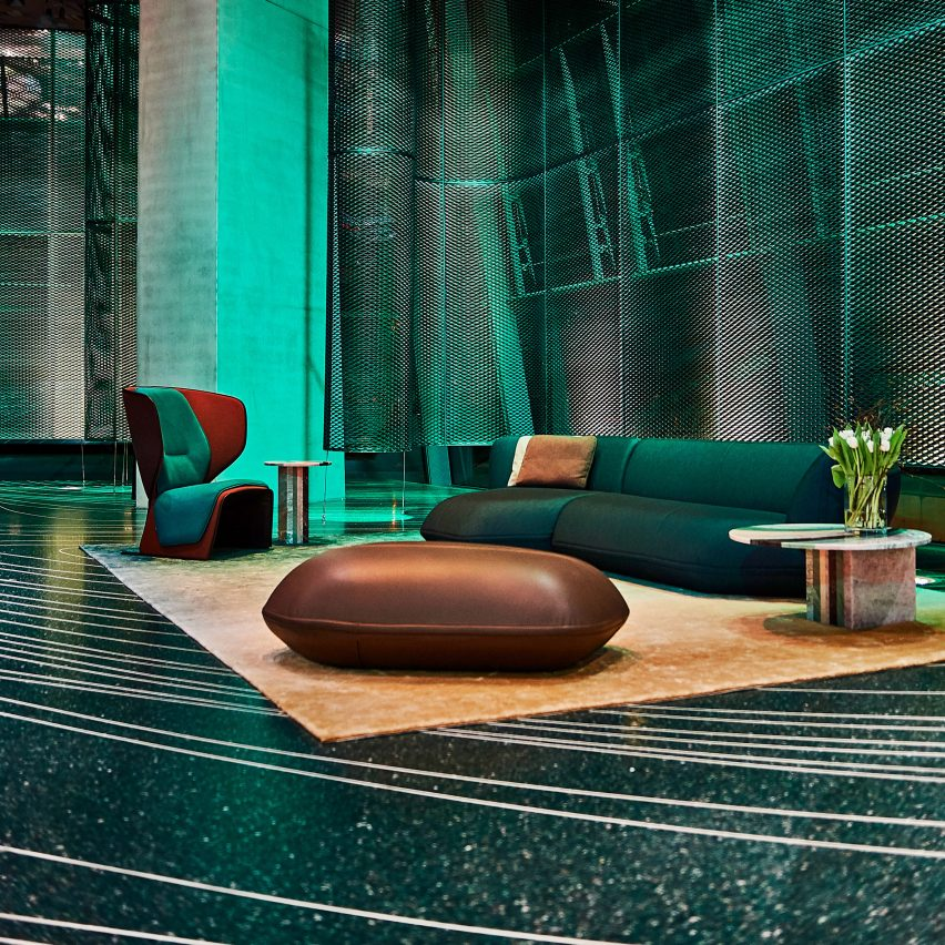 Patricia Urquiola uses 3D-printing to create terrazzo floor for BMW