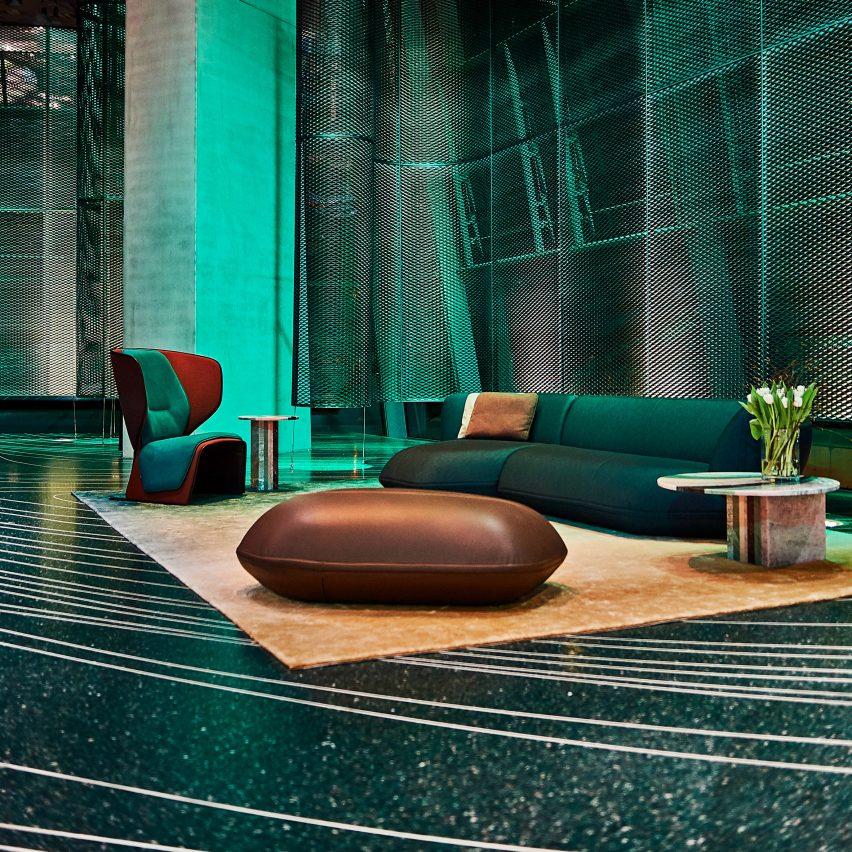Patricia Urquiola uses 3D-printing to create terrazzo floor for BMW