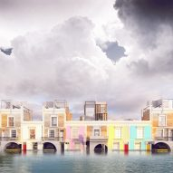 Vision for flood-proof Georgian townhouses wins Dezeen and MINI Living competition