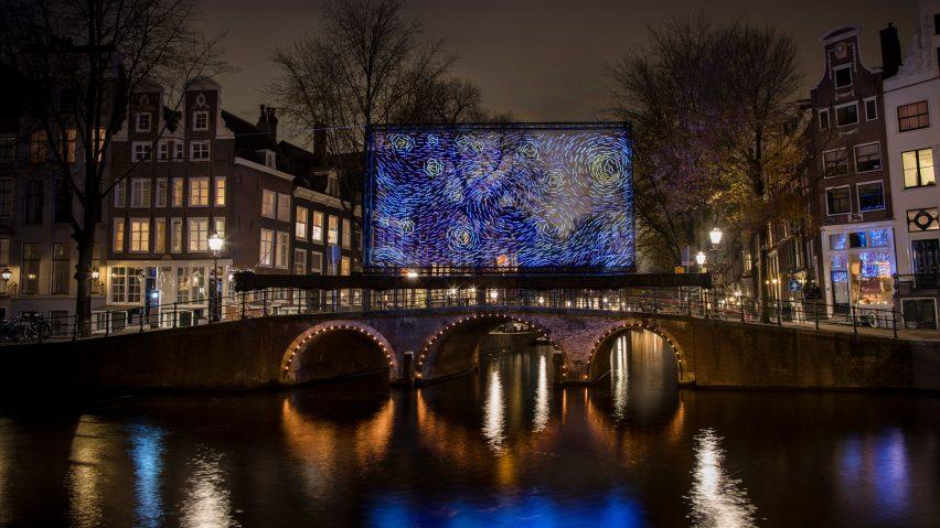 Terra Casa Amsterdam : Van goghs starry night reimagined as amsterdam light festival