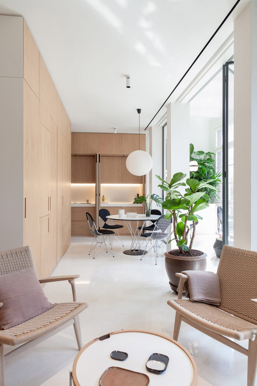 Interiors of Argentona Apartment, designed by YLAB Arquitectos